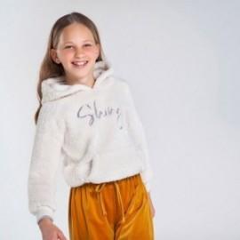 Bluza ocieplana dziewczęca Mayoral 7403-36 kolor kremowy