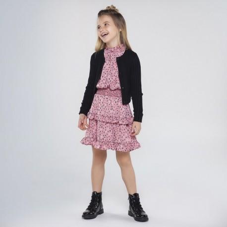 Sweter rozpinany dziewczęcy Mayoral 7333-36 kolor czarny