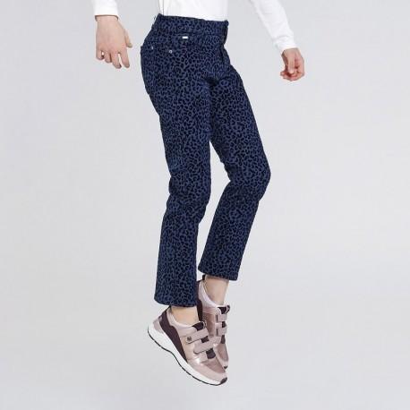 Spodnie w panterkę dziewczęce Mayoral 7540-44 kolor niebieski