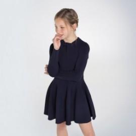 Sukienka dzianinowa dziewczęca Mayoral 7963-57 kolor granatowy