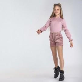 Bluzka z koronką dziewczęca Mayoral 7069-10 kolor różowy