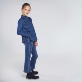 Spodnie jeansowe dziewczęce Mayoral 7539-75 kolor niebieski