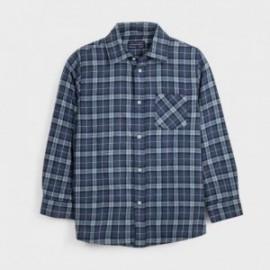 Koszula w kratę chłopięca Mayoral 7128-52 kolor niebieski