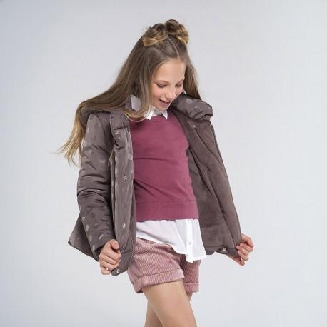 Kurtka zimowa dziewczęca Mayoral 7417-54 kolor beż