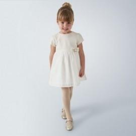Sukienka dla dziewczynki Mayoral 4964-59 kolor kremowy