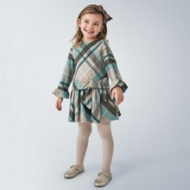 Sukienka w kratę dziewczęca Mayoral 4969-86 kolor turkusowy