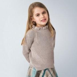 Sweter dla dziewczynki Mayoral 4343-52 kolor beżowy