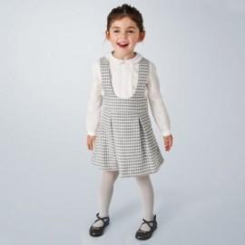 Komplet ze spódniczką na szelkach dziewczęcy Mayoral 4991-10 kolor szary
