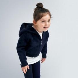 Bluza z kapturem dziewczęca Mayoral 4354-90 kolor granatowy