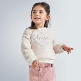 Bluza futrzana dziewczęca Mayoral 4402-21 kolor beżowy