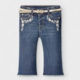 Spodnie jeans dziewczęce Mayoral 2590-80 kolor niebieski