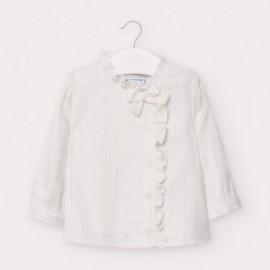 Bluzka elegancka dziewczęca Mayoral 2435-79 kolor biały