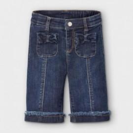 Spodnie jeansowe dziewczęce Mayoral 2592-5 kolor granatowy