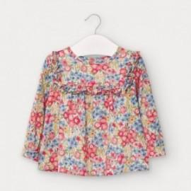 Bluzka w kwiaty dziewczęca Mayoral 2136-53 kolor czerwony