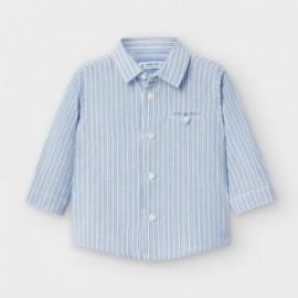 Koszula w paski chłopięca Mayoral 2128-96 kolor niebieski