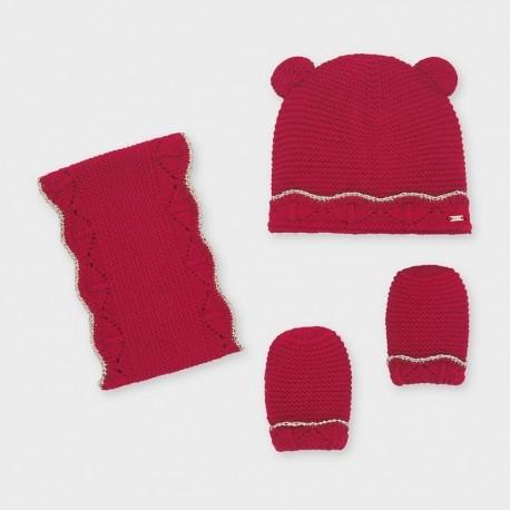 Komplet zimowy dziewczęcy Mayoral 10843-10 kolor czerwony