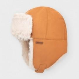 Czapka zimowa chłopięca Mayoral 10847-14 kolor brązowy