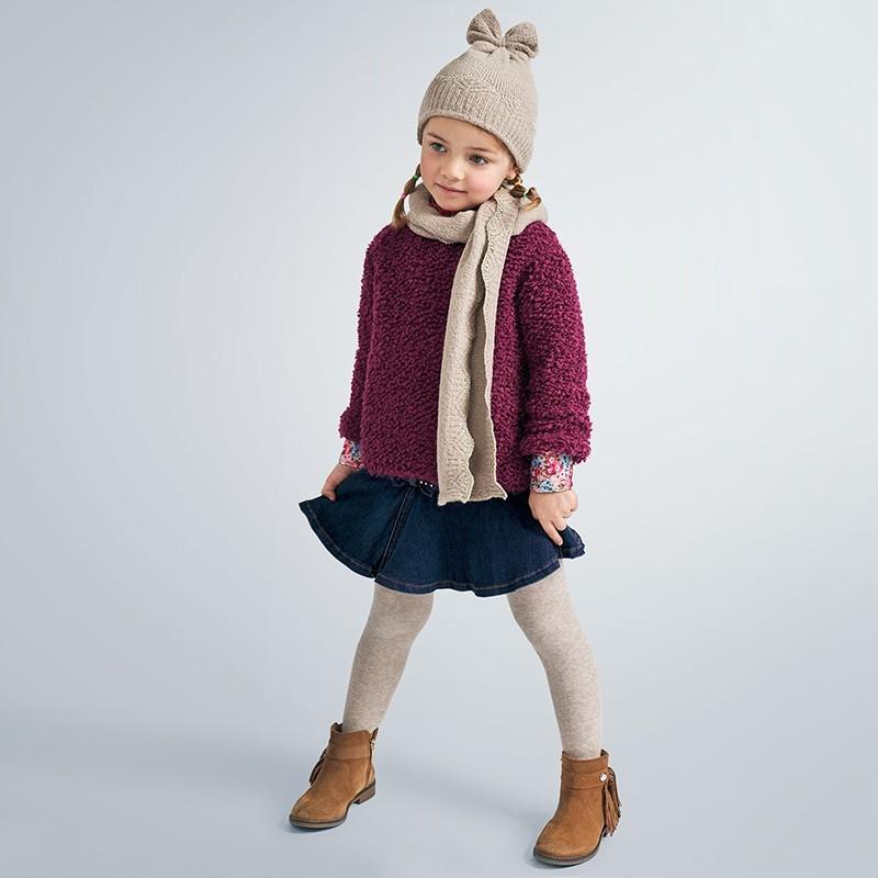 Komplet zimowy dziewczęcy Mayoral 10898-10 kolor beżowy