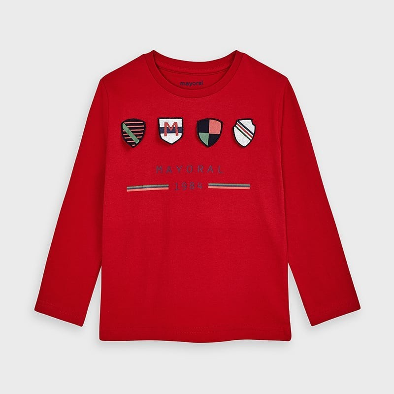 Koszulka z długim rękawem chłopięca Mayoral 4045-22 Czerwony