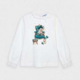 Koszulka z długim rękawem dziewczęca Mayoral 4061-64 Turkusowy