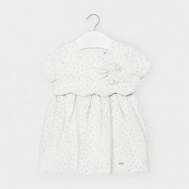 Sukienka elegancka dla dziewczynek Mayoral 2945-59 Kremowa