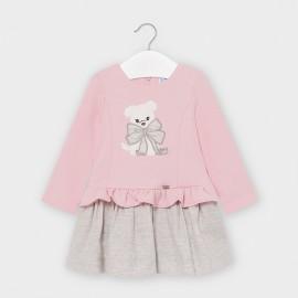 Sukienka łączona dziewczęca Mayoral 2955-33 Różowy