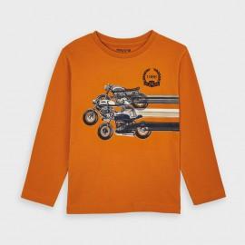 Koszulka z długim rękawem dla chłopca Mayoral 4038-81 pomarańcz
