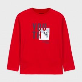 Koszulka z długim rękawem chłopięca Mayoral 7047-72 Czerwony