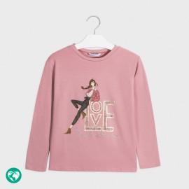 Koszulka z długim rękawem dziewczęca Mayoral 7068-31 Różowy