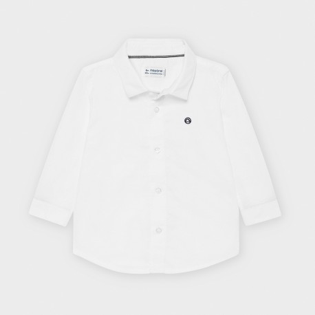 Koszula z długim rękawem chłopięca Mayoral 113-88 biała