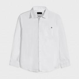 Koszula z długim rękawem chłopiec Mayoral 882-28 Biała