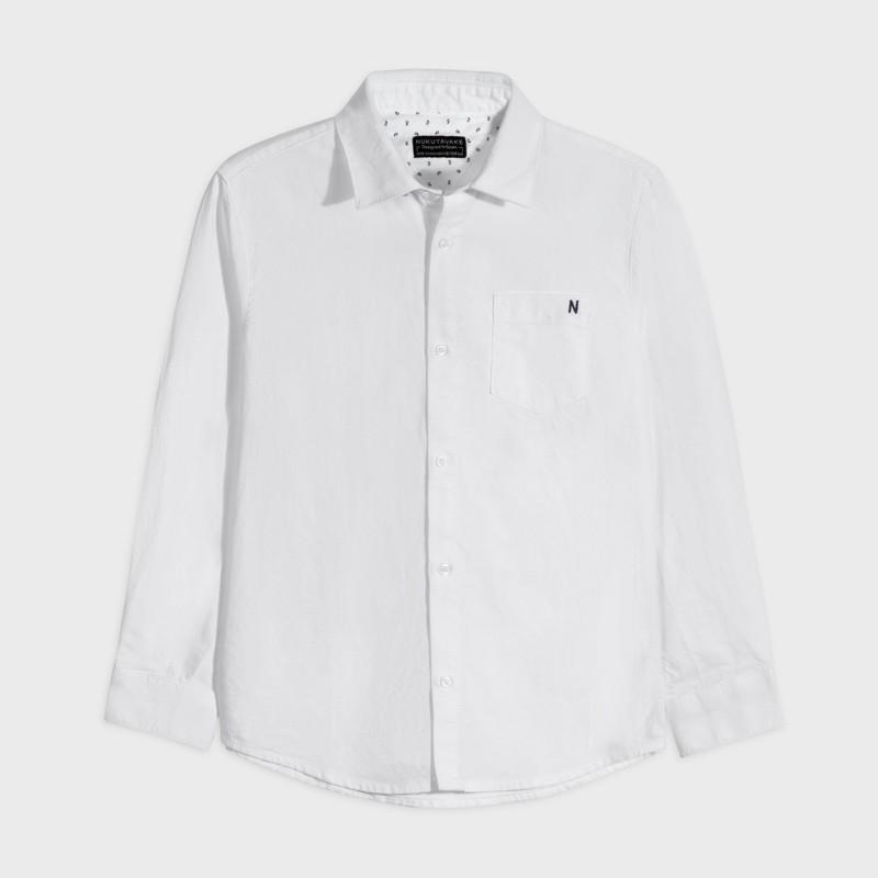 Koszula d/r oxford basic chłopiec Mayoral 882-28 Biały