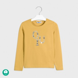 Koszulka z długim rękawem dziewczęca Mayoral 830-71 żółta