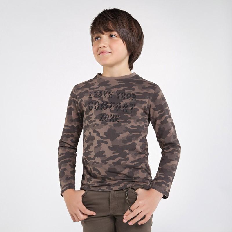 Koszulka moro chłopięca Mayoral 7046-76 Brązowy