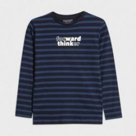 Koszulka w paski dla chłopców Mayoral 7042-82 Granatowy