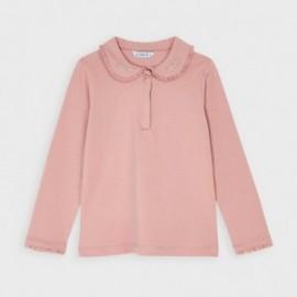 Koszulka polo dla dziewczynki Mayoral 131-56 Różowy