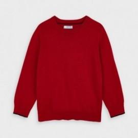 Sweter bawełniany chłopięcy Mayoral 323-75 Czerwony