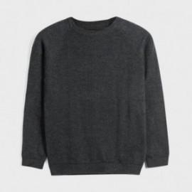 Sweter z lamówką chłopięcy Mayoral 350-45 Czarny