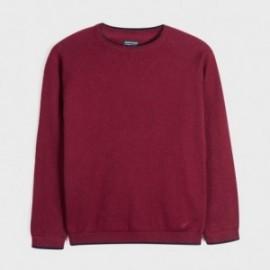 Sweter z lamówką chłopięcy Mayoral 350-43 Bordowy