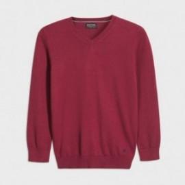 Sweter w serek chłopięcy Mayoral 354-79 Bordowy