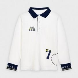 Koszulka polo z długim rękawem dla chłopców Mayoral 4135-35 śmietanka