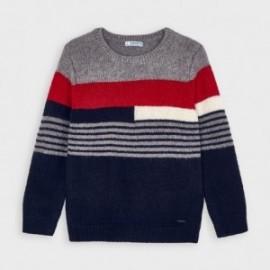 Sweter w paski chłopięcy Mayoral 4328-68 Czerwony/granat