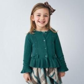 Sweterek z falbanką dziewczęcy Mayoral 4350-18 Zielony