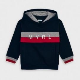 Bluza z kapturem dla chłopców Mayoral 4465-54 granatowa