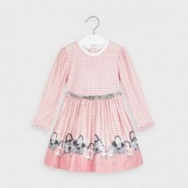 Sukienka pepitka dla dziewczynki Mayoral 4963-21 Różowy