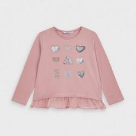 Koszulka z długim rękawem dziewczęca Mayoral 4063-12 Różowy