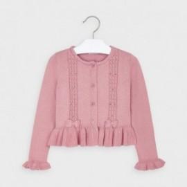 Sweterek z falbanką dziewczęcy Mayoral 4350-20 Różowy
