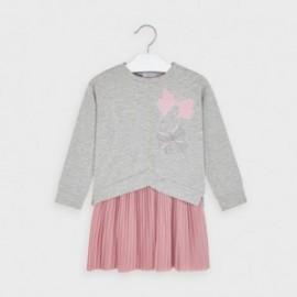 Sukienka z plisowanym dołem dziewczęca Mayoral 4986-62 Różowy