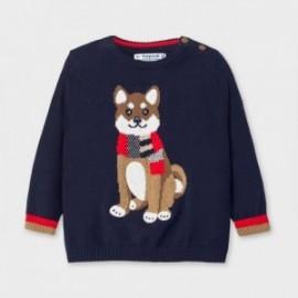 Sweterek dzianinowy dla chłopców Mayoral 2345-42 granatowy