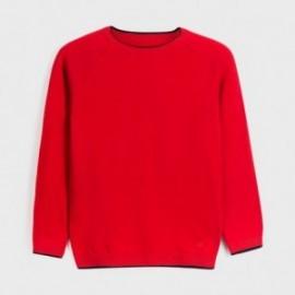 Sweter z lamówką chłopięcy Mayoral 350-40 czerwony
